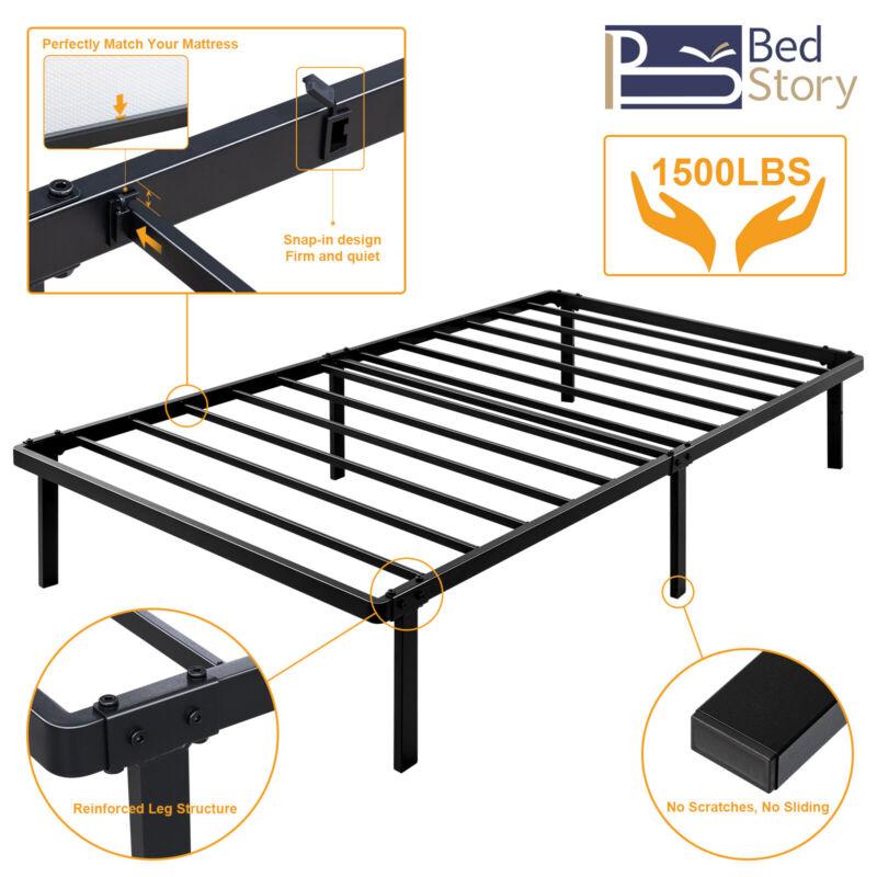 Queen Full Twin Size Metal Platform Bed Frame Heavy Duty Mattress Foundation