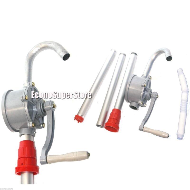 Hand Crank Aluminum Rotary Gas Oil Fuel Hand Pump 10 GPM Self Priming Dispenser