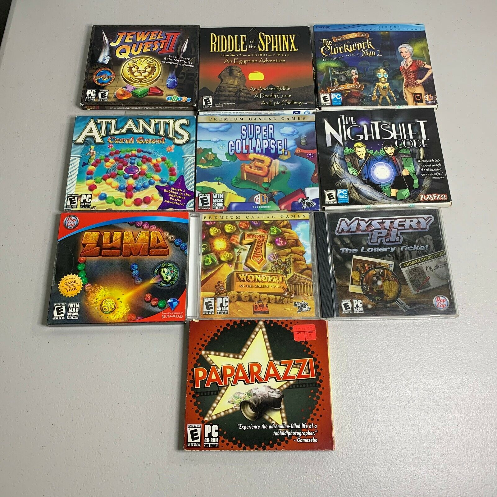 Computer Games - Lot of 10 PC Computer Games Mystery Puzzle