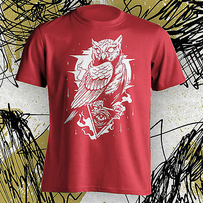Owl Tee T Shirt Cool Hipster All Seeing Eye Illuminati