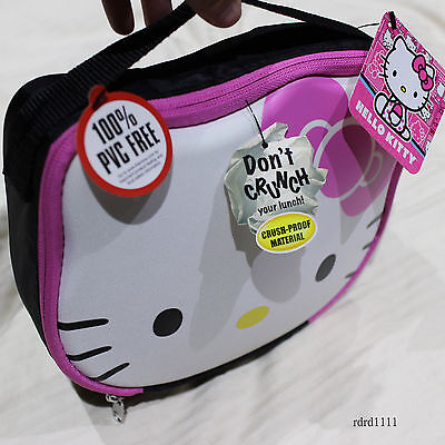 NWT SANRIO Hello Kitty Thermos Insulated PVC FREE Lunch box kit - Pink/White NEW