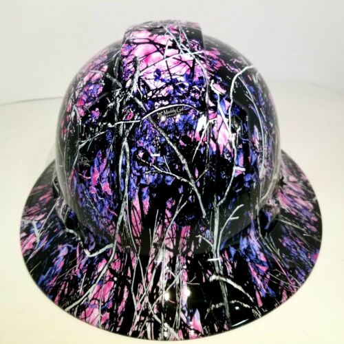 Hard Hat custom hydro dipped , FULL BRIM COUNTRY GIRL CAMO NEW CUSTOM HARD HAT 2