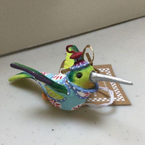 """KRINKLES Patience Brewster PB Wizz HUMMINGBIRD 4"""" long Christmas ornament mini"""