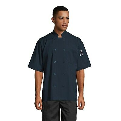 South Beach Short Sleeve Chef Coat All Colors Sizes Xs To 3xl 0415