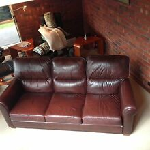 Moran Leather Lounge Suite Belair Mitcham Area Preview