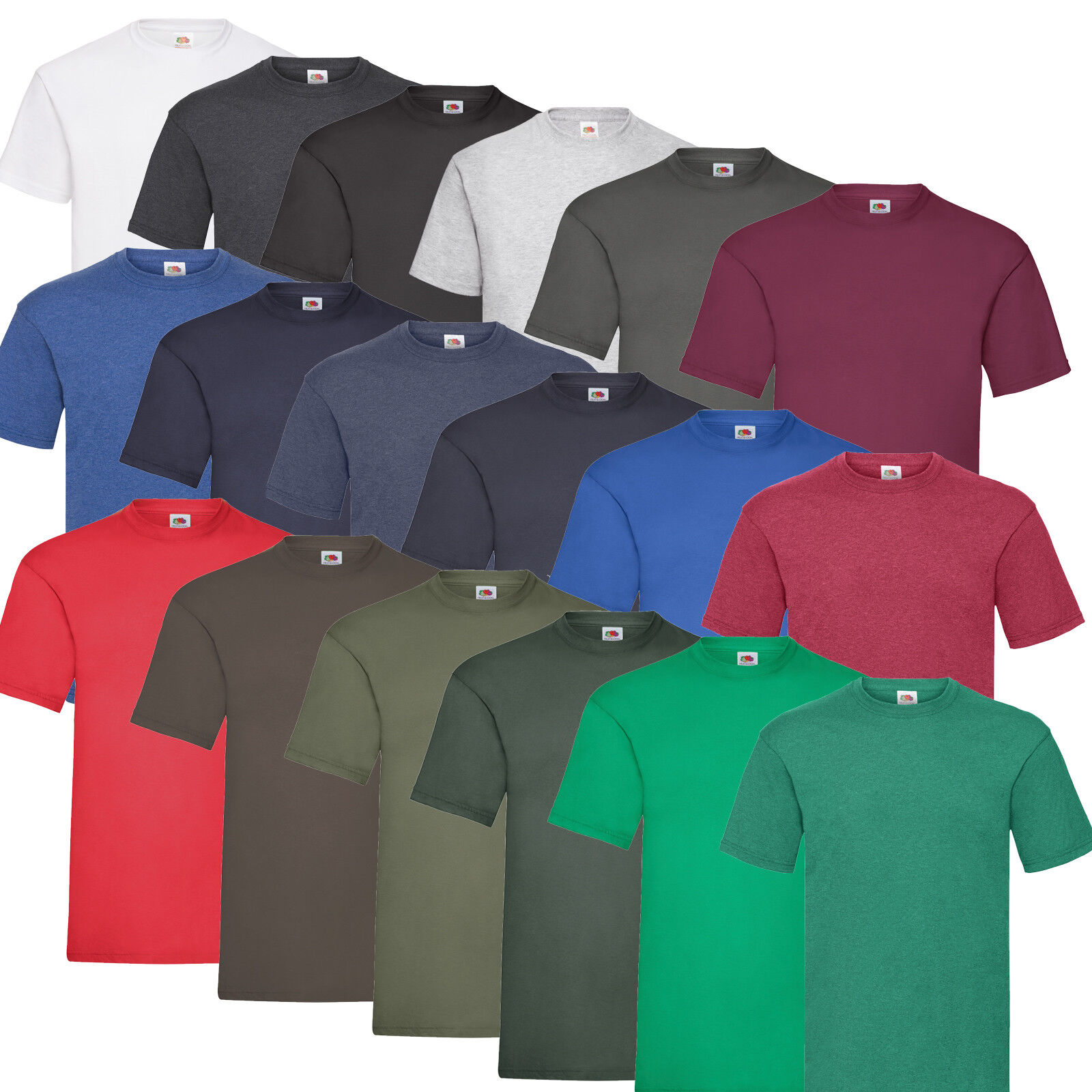 10 FRUIT OF THE LOOM T SHIRTS SETS VALUEWEIGHT BAUMWOLLE M L XL XXL SHIRTS NEU
