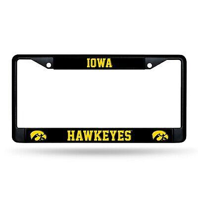 Iowa Hawkeyes LICENSED Metal BLACK License Plate Frame Auto Truck Car NWT Iowa Hawkeyes Plate