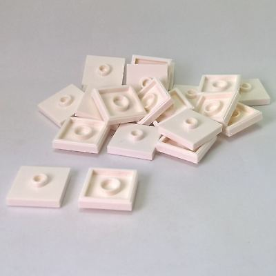 20 NEW LEGO Plate, Modified 2 x 2 with Groove and 1 Stud in Center White