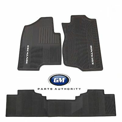 2007-2014 Cadillac Escalade ESV Front 2nd & Cargo Premium All Weather Mats Black