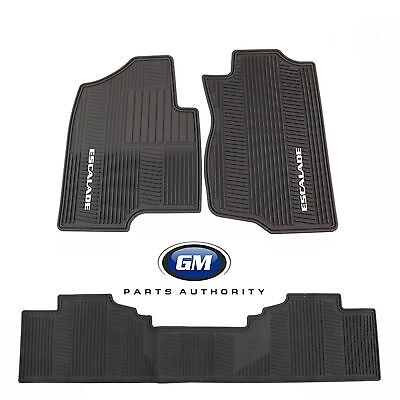 2007-2014 Cadillac Escalade ESV Front & Rear Premium All Weather Floor Mats Blk