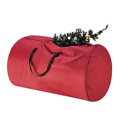 Tiny Tim Totes Red Canvas Christmas Tree Storage Bag, Large For 9 Foot Tree](Christmas Tree Storage Tote)