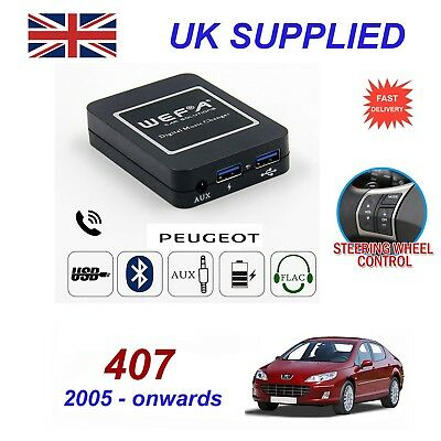 For Peugeot 407 Music Streaming Bluetooth Telephone Charger SD AUX CD Module RD4