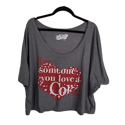 Old Navy Collectibles XXL cropped graphic t shirt coke coca cola heart short