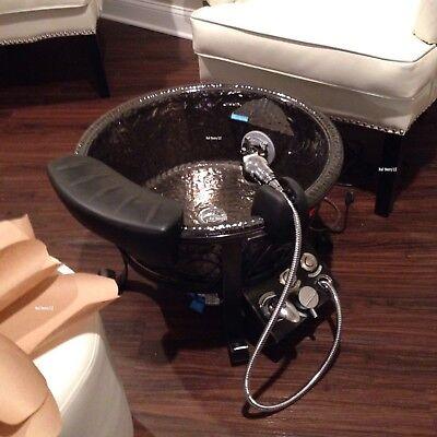 2 Lennox GS Pedicure Glass Bowl -Black Nickel