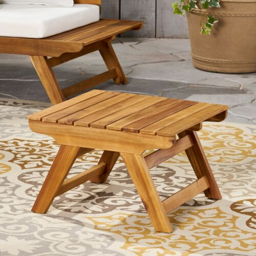 Kaiya Outdoor Wooden Side Table Home & Garden