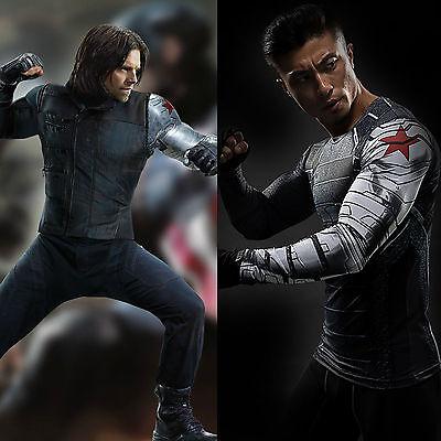 Captain America 3 Winter Soldier James Buchanan Barnes Bucky Cosplay T-Shirts