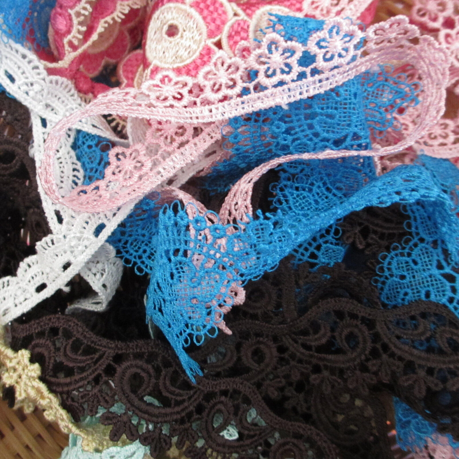 Burlesque Lace Bundle 10 metres supplied in various colours and widths