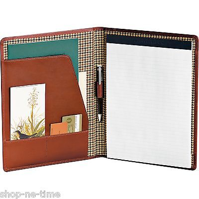 Cutter Buck Genuine Chestnut Leather Portfolio Writing Pad - New