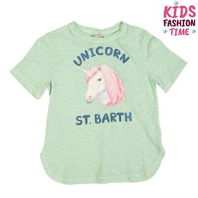 MC2 SAINT BARTH T-Shirt Top Size 8Y Slub Yarn Printed Unicorn Made in Portugal