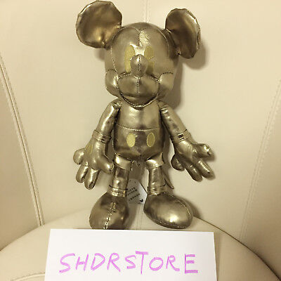 Genuine Mickey mouse 90th years Gold plush birthday Disney Store Limited edition