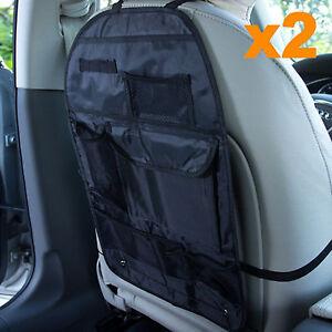 2X Back Car Van Seat Kids Organiser Tidy Multi-Pocket Headrest Storage Travel UK