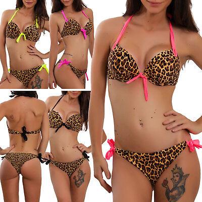 Kostüm Frau Bikini Zum Schwimmen Mode Meer Badebekleidung Leopard Sexy KL2037
