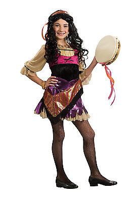 Girls Gypsy Costume Fortune Teller Halloween Fancy Dress Child Kids Psychic S - Gypsy Costume Girl