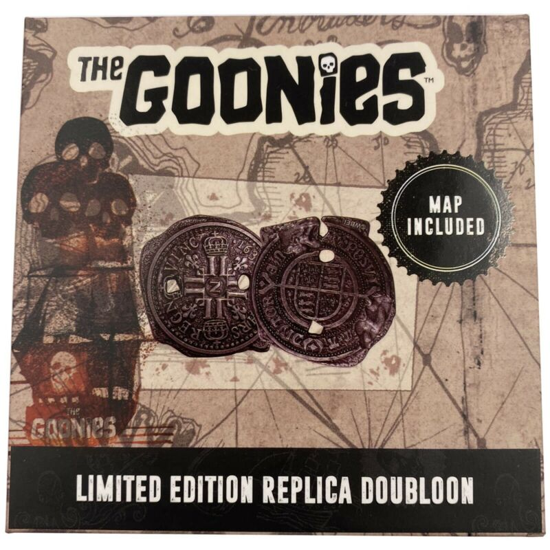 Goonies Limited Edition Replica Doubloon - Officially Licensed #/1985 W/ Map