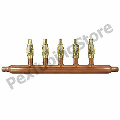 5 Port 12 Pex Manifold With Valves By Sioux Chief 672xv0599 Open