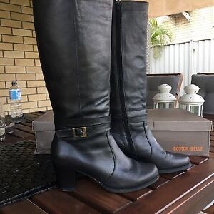 Leather boots, Boston belle, black size  39 Carindale Brisbane South East Preview
