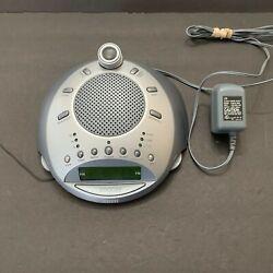 Homedics AM/FM Sound Spa Clock Radio Alarm Nature Sounds Projector SS-4000