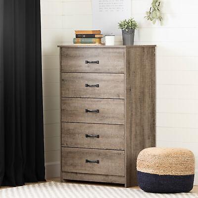 Farmhouse 5-drawer Dresser Chest Bedroom Clothes Storage Organizer Rustic Brown