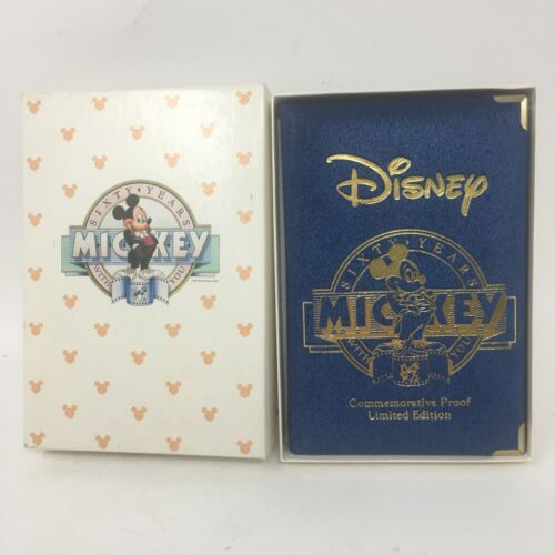 1988 Disney Sixty Years With You Mickey Mouse Steamboat Willie .999 Silver Coin