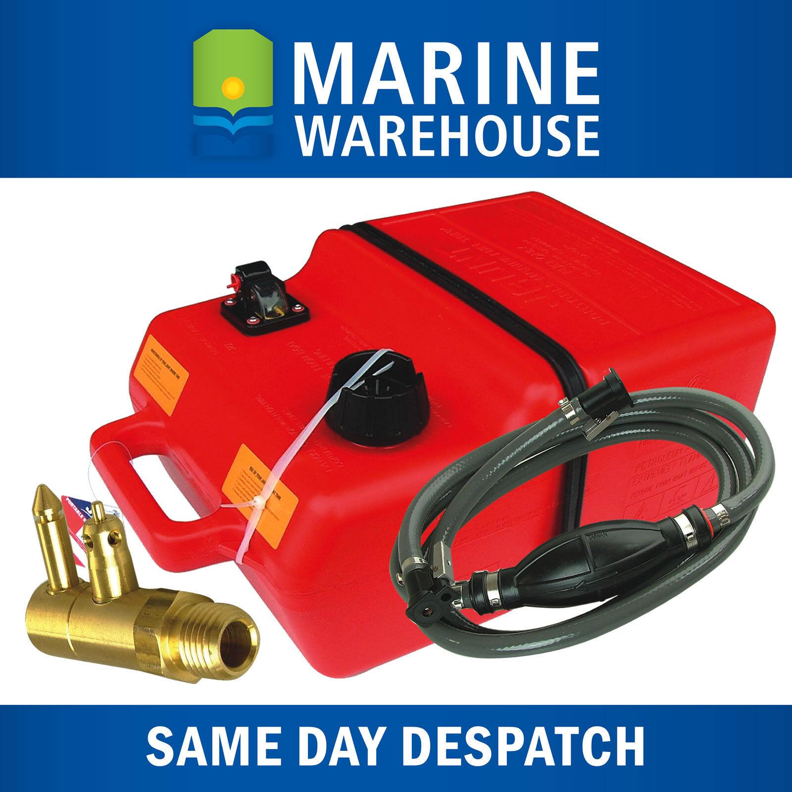 Outboard Fuel Tank 25L Kit W/ Yamaha Fuel Line & Tank Adaptor 25 Litre 202900YM