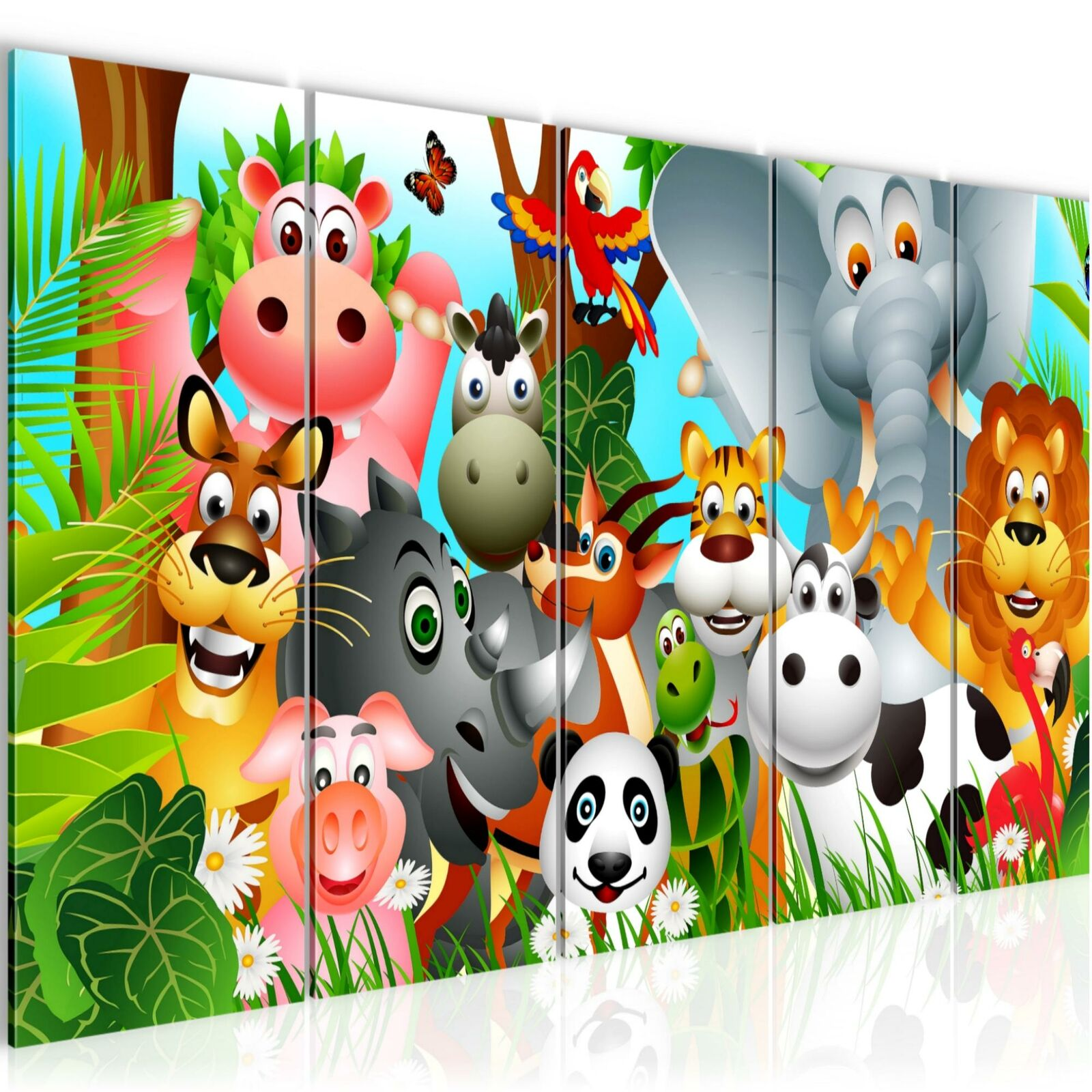 WANDBILDER Kinderzimmer Tiere BILDER XXL VLIES LEINWAND BILD 014655P