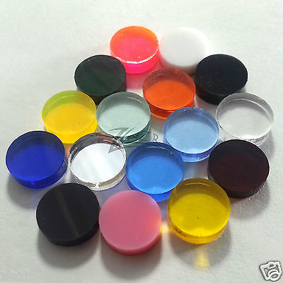 "100 5/8""dia. x1/8"" Small RANDOM COLOR Acrylic Circle Disc Plexiglass Plastics"