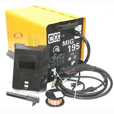 Mig 195 Amp Mag 220v Welder Flux Stainless Aluminum Welding Machine Gas No Gas