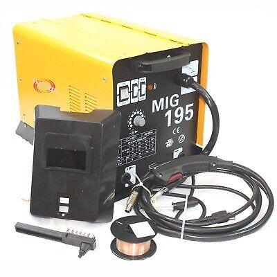 Mig 195 Amp Mag 220v Welder Flux Stainless Aluminum Welding Machine Gas No Gas