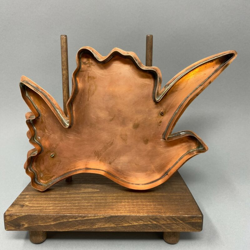 RARE Large Copper Cookie Cutter ~ Either a Flower or a Dove