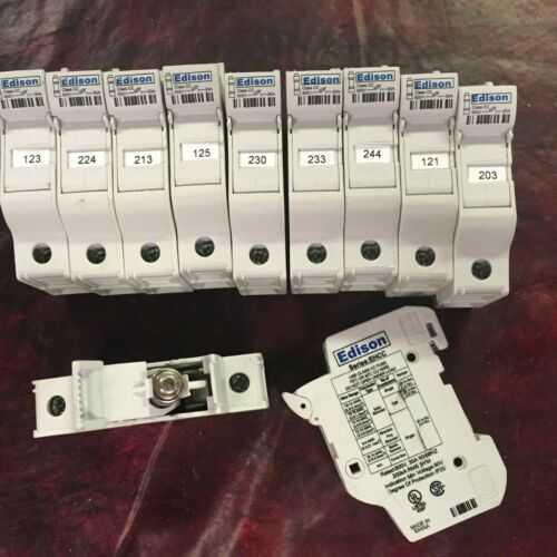 11 pcs. - EDISON EHCC 30 AMP FUSE HOLDER - USED