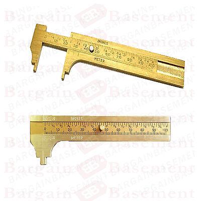 SOLID BRASS 100mm VERNIER CALIPER Measuring Tool Gauge Bead Gem Stone Jeweller