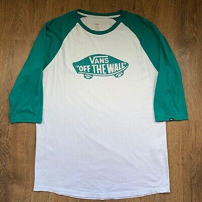 """VANS Raglan Baseball Green  t Shirt size XL 46"""" Chest"""