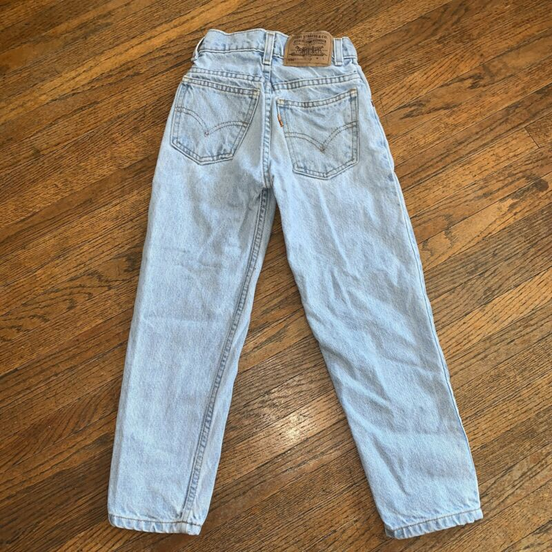 Vintage Orange Tab Little Levi's 550 Toddler Size Slim 7 Relaxed Fit Jeans