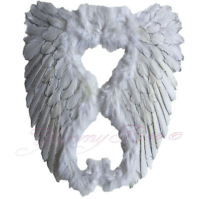 Yummy Bee Angel Wings Fancy Dress Fairy White Feather Large Party Hen Halloween (Bee Wings)