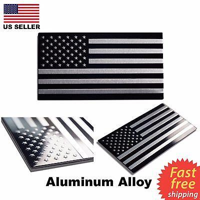 ALUMINUM American Flag Sticker Decal Auto, Car, & Truck Emblem 3D 3.15