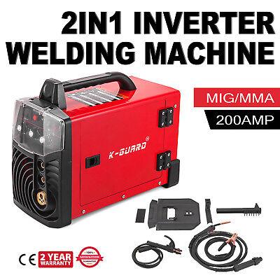 Mig-200 200 Amp Mig Mma Stick Arc 2-in-1 Combo Inverter Welder Igbt 220v