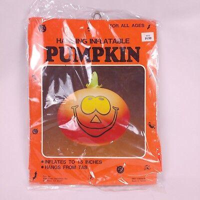 Halloween Decorations Kid Friendly (Inflatable Pumpkin Halloween Hanging Decoration Vintage NOS Kid Friendly Blow)