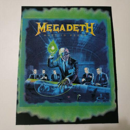 Vintage    MEGADETH     Unused  Huge  80s BACK PATCH   thrash