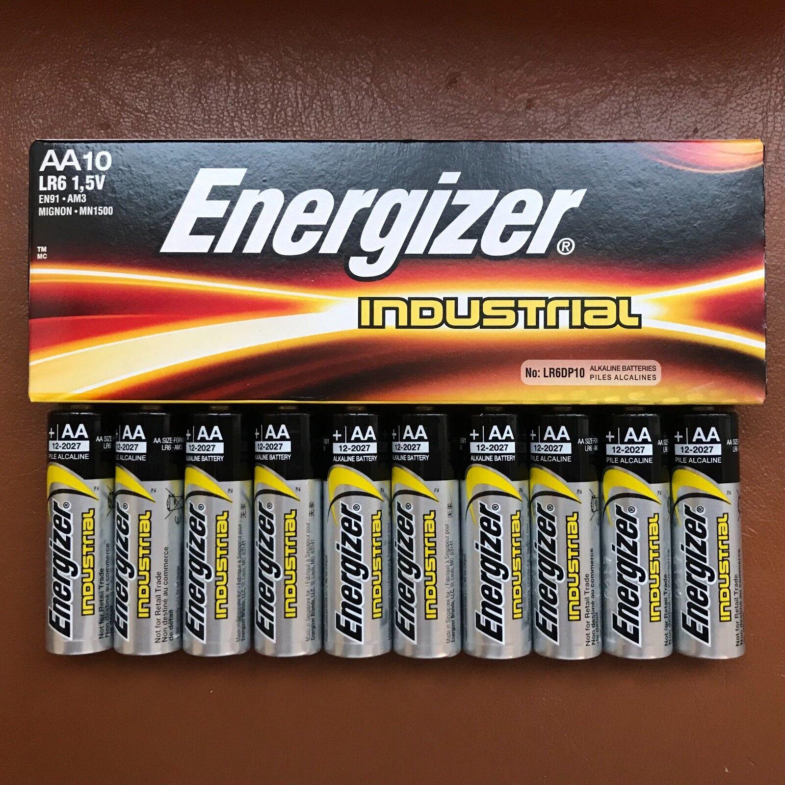 10 X Energizer LR6 Industriell Aa Batterien Alkalisch Langlebig 1.5 V Batterie