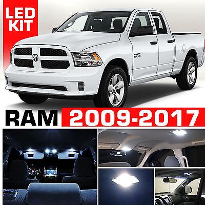 2009-2017 For Dodge Ram Interior + Cargo LED Light Package Kit 18pc